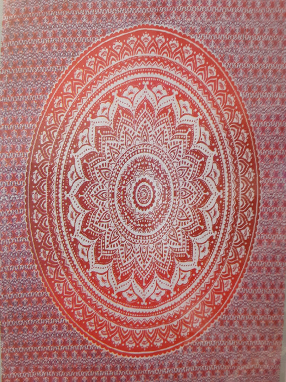 Mandala Tapestry - Red/Burgundy