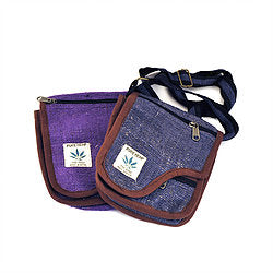 Hemp Flap Shoulder Bag