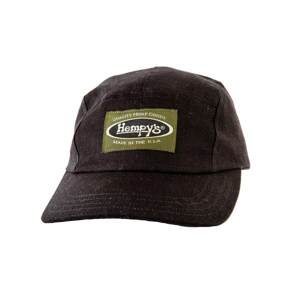 Hemp 5 Panel Hat - Black