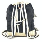 Hemp Beachbag Backpack - Black