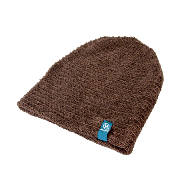 Hemp Flatline Beanie - Brown