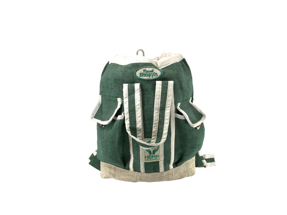 Hemp Beachbag Backpack - Green