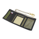 Hemp Tri-fold Chain Wallet - Green Tattoo
