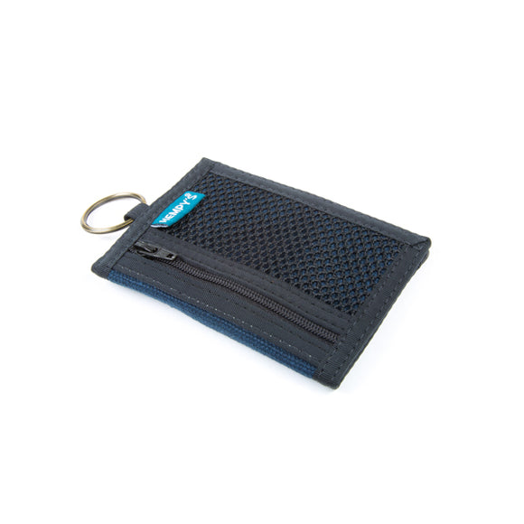 Hemp Bi-Fold Key Ring Wallet - Blue
