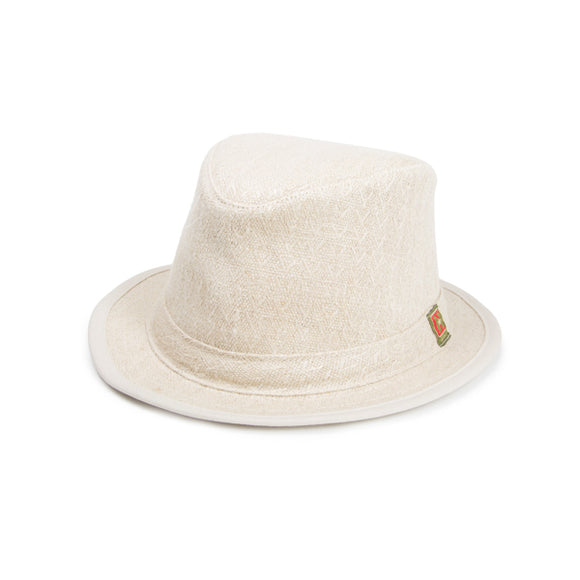 Hemp Straw Weave Fedora - Natural