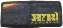Rasta Stripe Bi-Fold Wallet - Denim