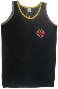 Rasta Trim Pocket Hemp Tank Top - Black