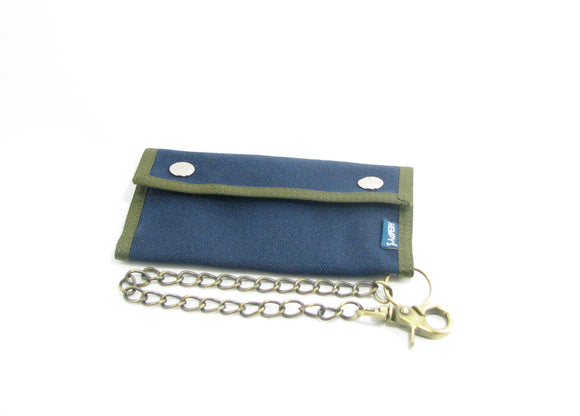 Hemp Trucker Chain Wallet - Blue