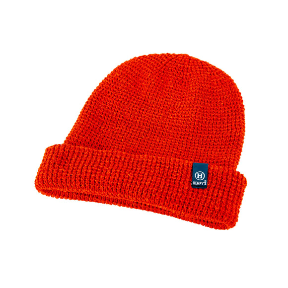 Hemp Lumberjack Beanie - Orange