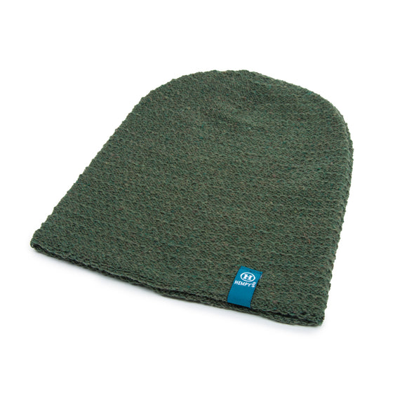 Hemp Flatline Beanie - Green