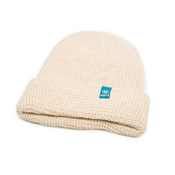 Hemp Lumberjack Beanie - Wheat