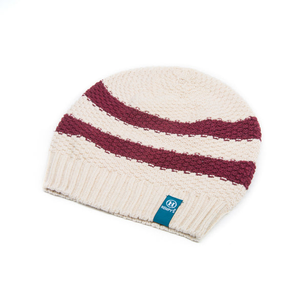Hemp Summer Rugby Beanie - Berry