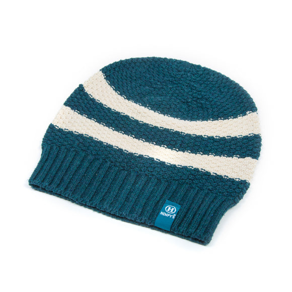 Hemp Summer Rugby Beanie - Teal