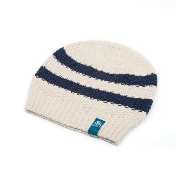 Hemp Summer Rugby Beanie - Navy