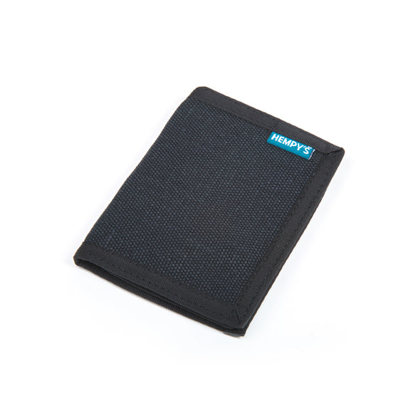 Hemp Bi-fold Wallet - Black