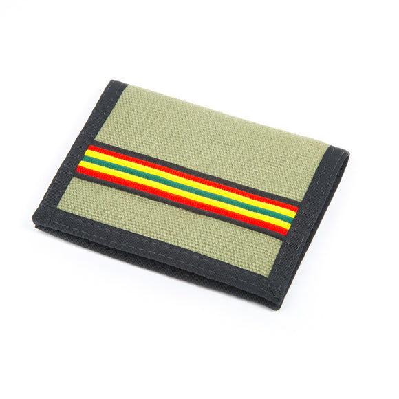 Hemp Bi-fold Wallet - Green Rasta