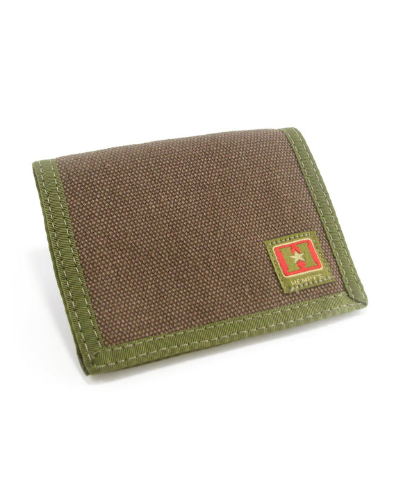 Hemp Bi-fold Wallet - Brown