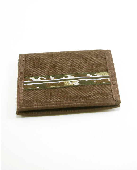 Hemp Bi-fold Wallet - Brown Camo