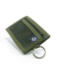 Hemp Bi-Fold Key Ring Wallet - Green