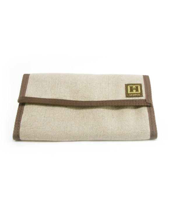 Hemp Tri-fold Organizer Wallet - Natural