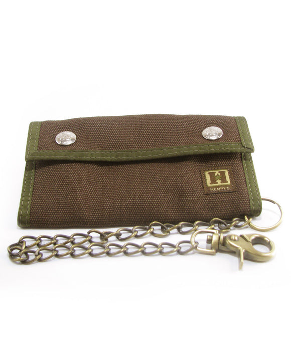 Hemp Trucker Chain Wallet - Brown