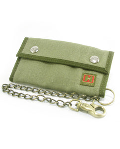 Hemp Trucker Chain Wallet - Green
