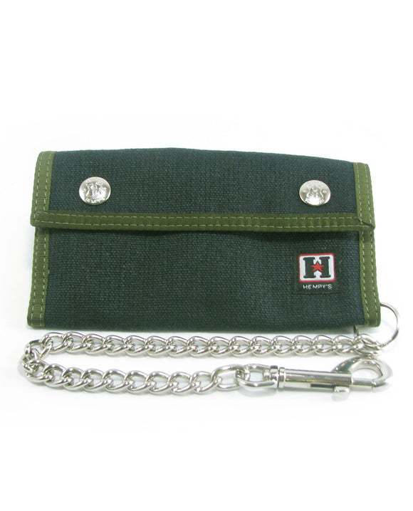 Hemp Trucker Chain Wallet - Black