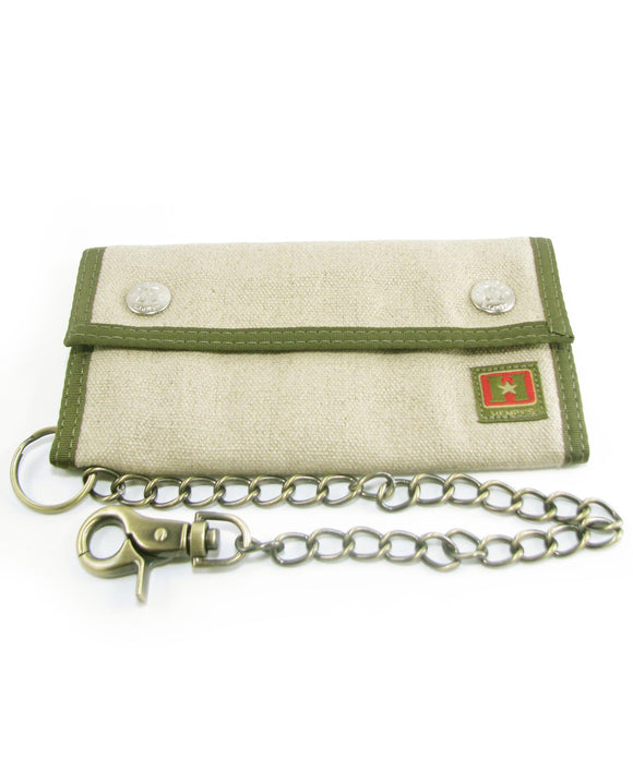 Hemp Trucker Chain Wallet - Natural