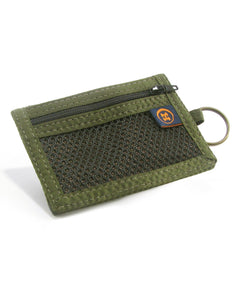 Hemp Bi-Fold Key Ring Wallet - Brown