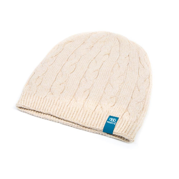 Hemp Classic Cable Beanie - Natural
