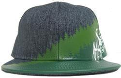 Tree Line Snapback Hat - Denim