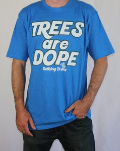 Trees are Dope Hemp T-Shirt - Blue