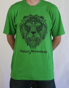 Trinity Hemp T Shirt by Satori Movement - Terpene Green