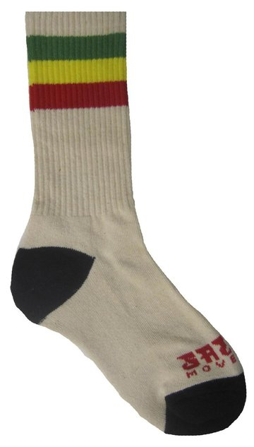 Rasta Stripes Crew Socks - Natural