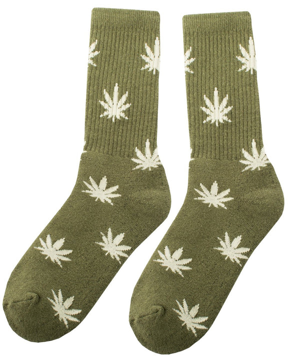 Hope Leaf Hemp Socks - Green