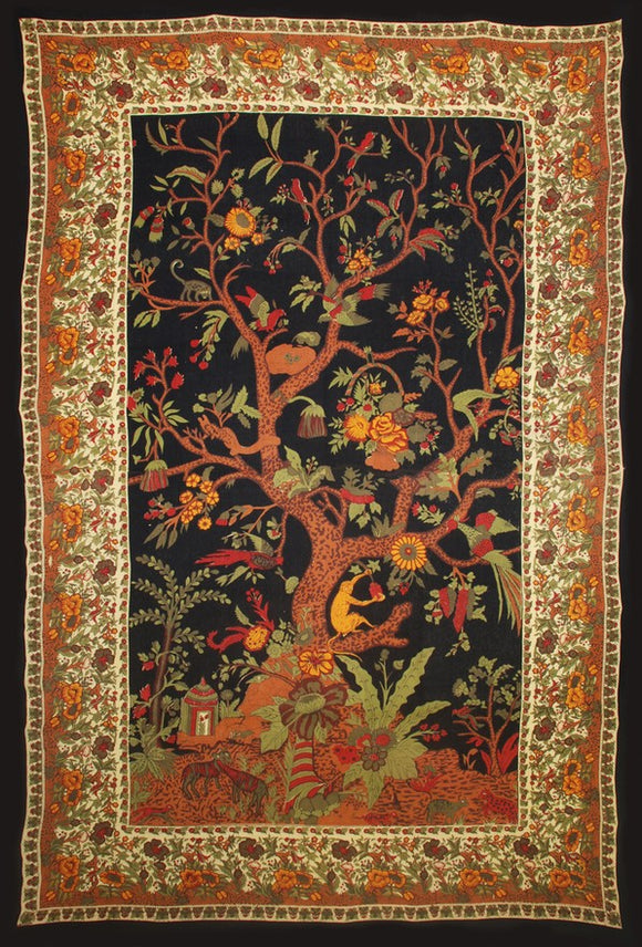 Tree of Life Tapestry - Gold