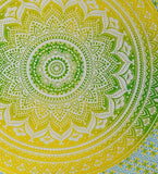 Mandala Tapestry - Yellow/Green
