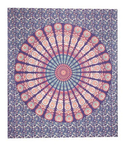 Peacock Mandala Tapestry - Purple