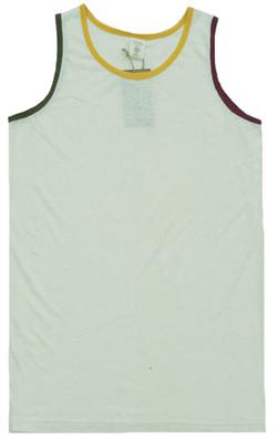 Rasta Trim Hemp Tank Top - Natural