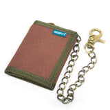 Hemp Tri-fold Chain Wallet - Brown