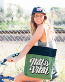 Vital Packable Hemp Totebag by Eliot Tupac