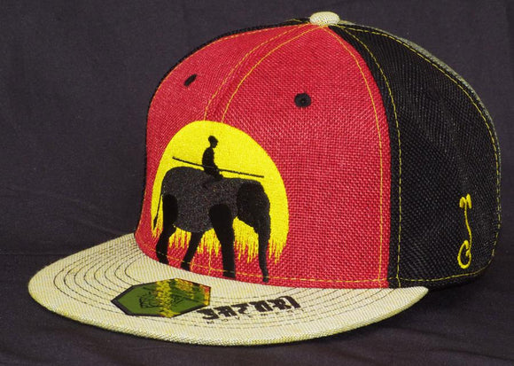 Rasta Elephant Fitted Hat