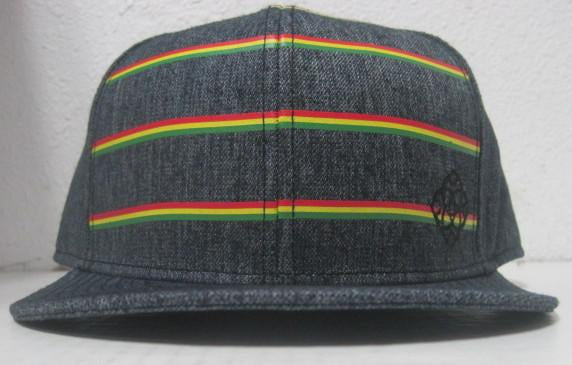 Rasta Stripe Fitted Hat