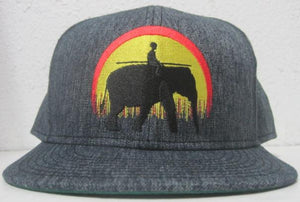 Classic Elephant Fitted Hat - Denim