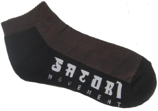 Half Link Ankle Sock - Brown
