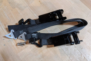 Custom ratcheting anchor straps to secure your Reef in the most aggressive terrain