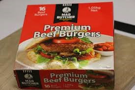 Mad Butcher Premium Beef Patties x 16 (Frozen)