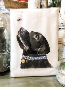 Tea Towel Dog Black Lab