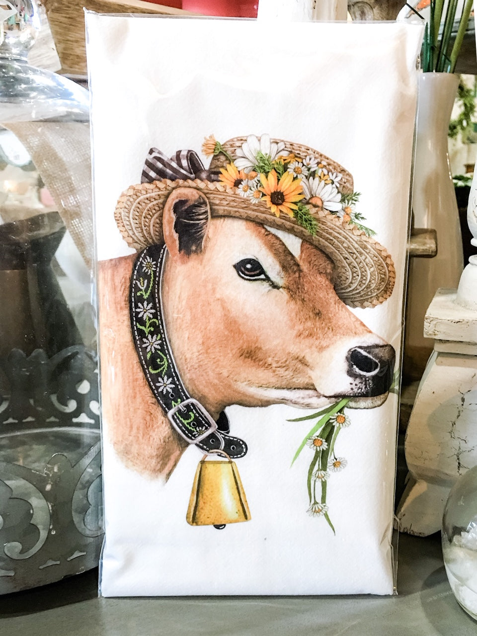 Tea Towel Farm Cow
