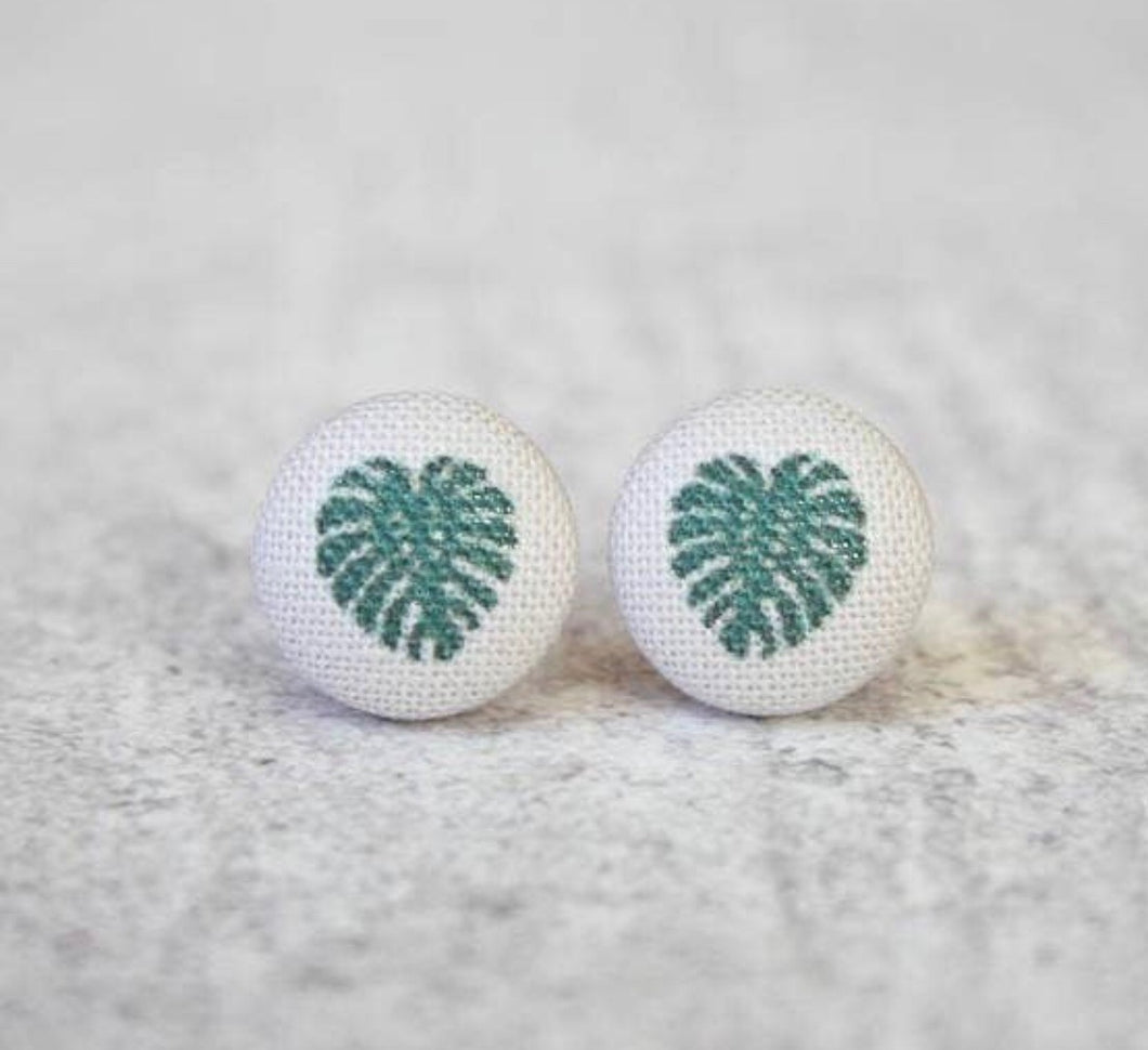Earring Button Stud Palm